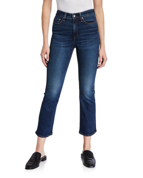 Image 1 of 3: Rag & Bone Nina High Rise Ankle Flare Jeans