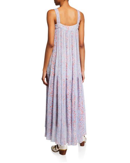Image 2 of 2: See by Chloe Square-Neck Sleeveless Floral Long Dress