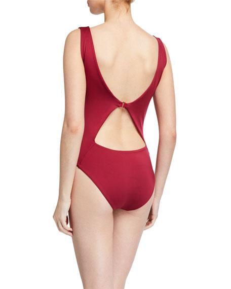 Johanna Ortiz Wetlands Tie-Front One-Piece Swimsuit