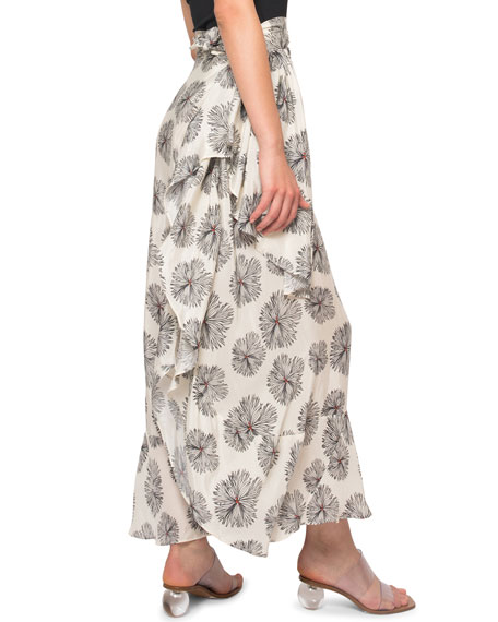 Image 2 of 4: Jaline Dominika Printed Wrap Pareo Coverup
