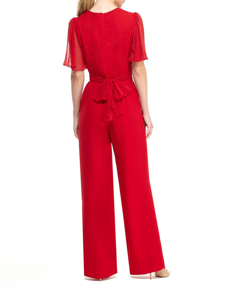 Gal Meets Glam Collection Novelty Cocktail Jumpsuit