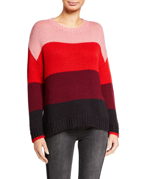 Sundry Thick Stripe Loose Sweater