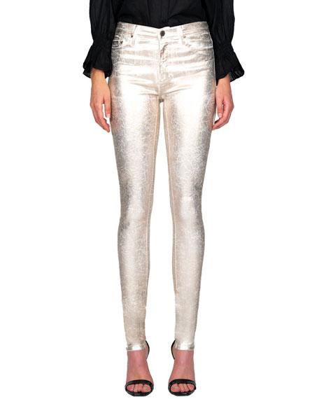Black Orchid GIsele High-Rise Coated Super Skinny Jeans
