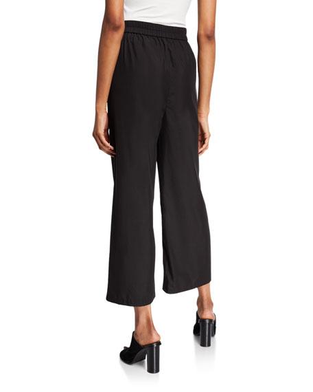 Eileen Fisher Sandwash Wide-Leg Ankle Pants