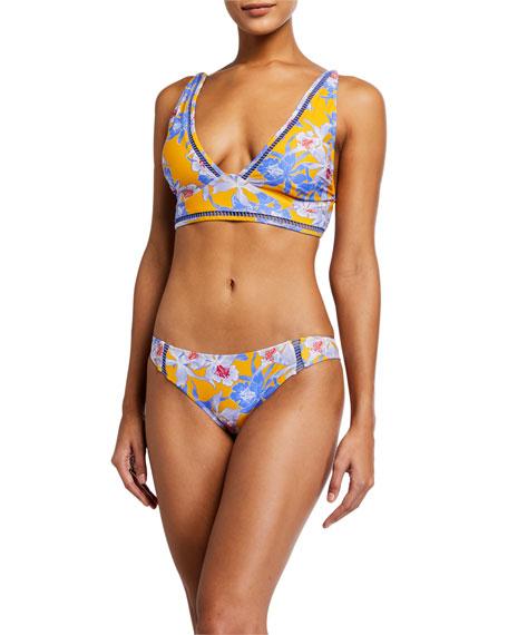 Letarte Ibiza Floral Bikini Swim Top