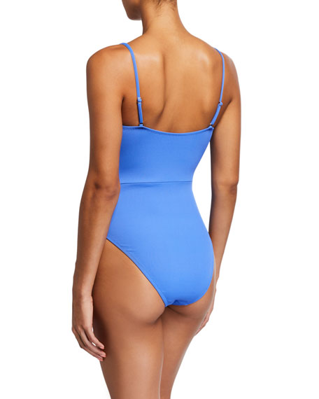 Letarte Corsica Drawstring One-Piece Swimsuit
