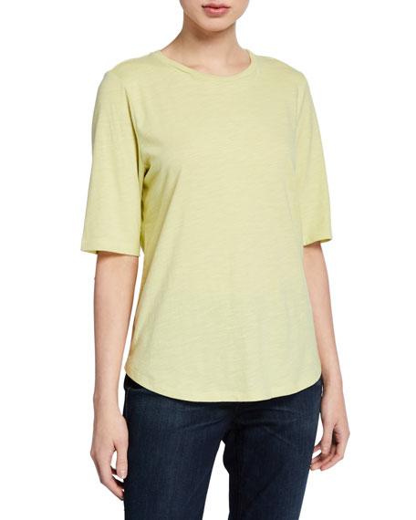 Eileen Fisher Petite Organic Cotton Elbow-Sleeve Jersey Tee