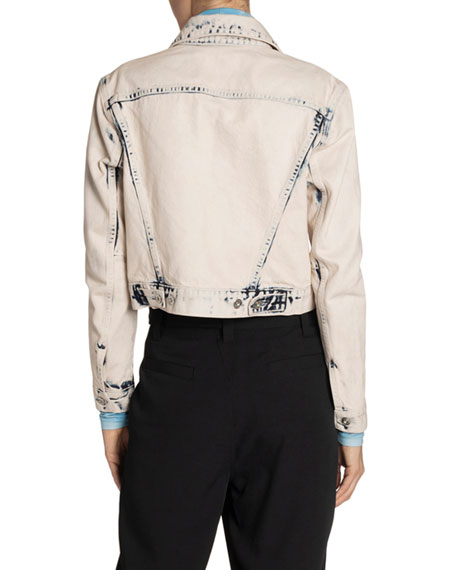 Image 2 of 2: Proenza Schouler White Label Cropped Denim Jacket