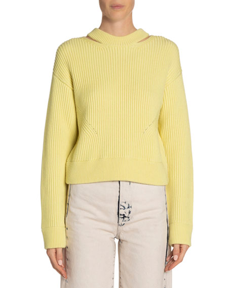 Proenza Schouler White Label Chunky Ribbed Pullover