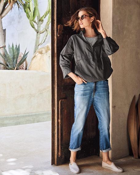 Eileen Fisher Organic Cotton/Nylon Pullover Jacket