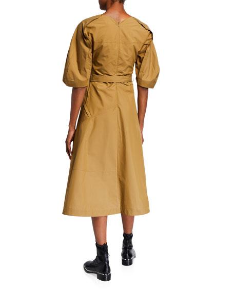 3.1 Phillip Lim Balloon-Sleeve Midi Dress
