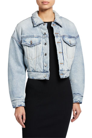 alexanderwang.t Padded Denim Trucker Jacket