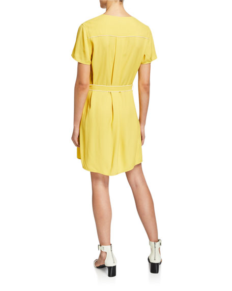 Image 2 of 2: Rag & Bone Tabitha Short-Sleeve Wrap Dress