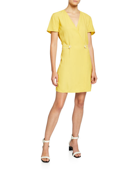 Image 1 of 2: Rag & Bone Tabitha Short-Sleeve Wrap Dress