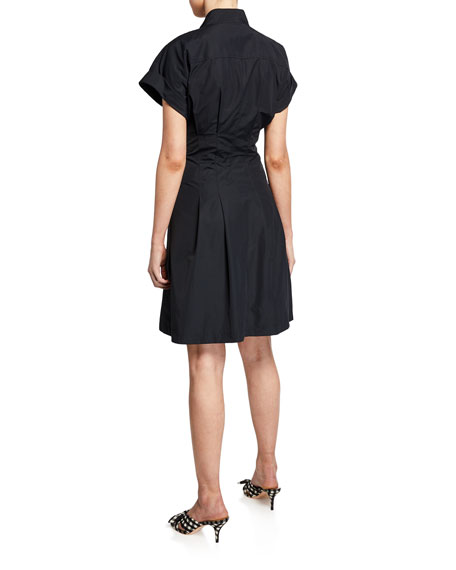 Finley Rocky Tie-Front Poplin Dress