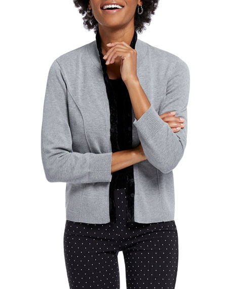 NIC+ZOE Party Button-Front Cardigan