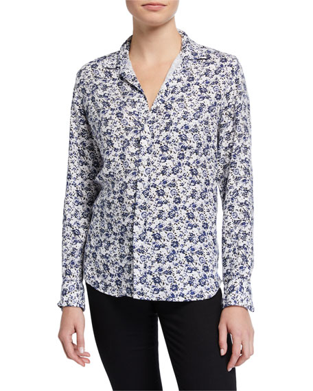 Frank & Eileen Long-Sleeve Floral-Print Button-Down Top
