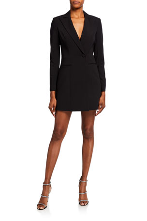 Jay Godfrey Ace Tux Stretch Crepe Mini Dress