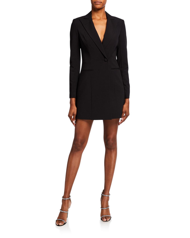 Jay Godfrey Ace Tux Stretch Crepe Mini Dress