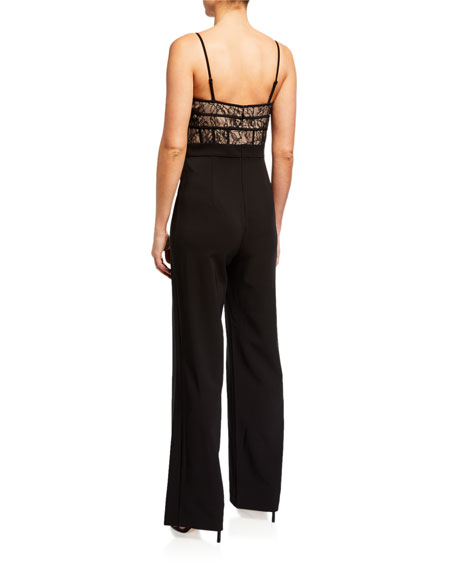 Image 2 of 2: Aidan by Aidan Mattox Lace Corset Top Jumpsuit