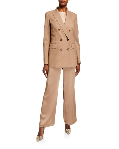Lafayette 148 New York Plus Size Riverside Reverie Satin Cloth Ankle Pants
