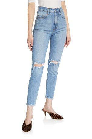 Nobody Denim Frankie Distressed Stretch Ankle Jeans