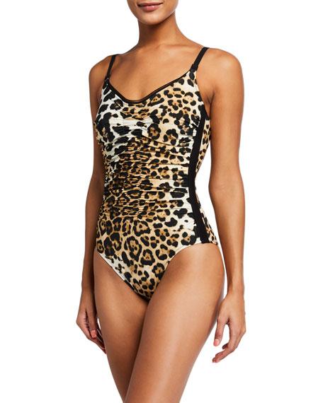Shan Kawa Leopard-Print One-Piece Swimsuit