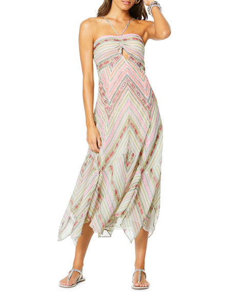 Ramy Brook Luella Striped Halter Dress
