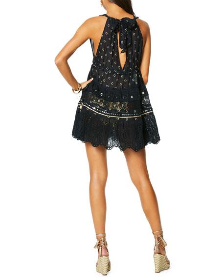 Ramy Brook Luiza Lace-Hem Mini Dress