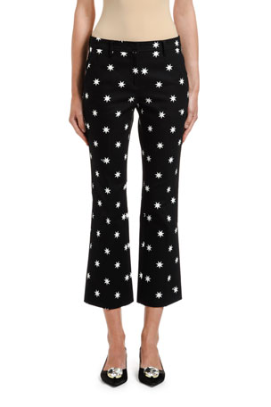 No. 21 Star-Print Cropped Pants