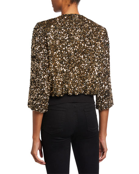 Loyd/Ford Sequined 3/4-Sleeve Cardigan