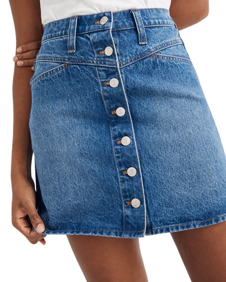 Madewell Snap-Front Western Mini Skirt