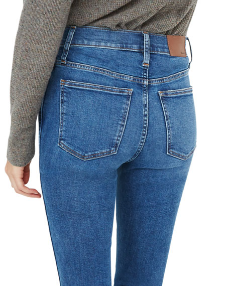 """Madewell 10"""" Rise Skinny Jeans with Button Front"""