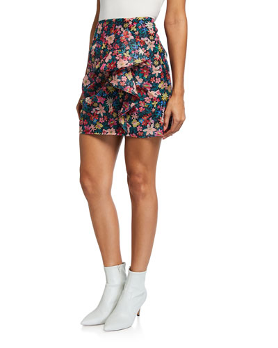 And Ever More Floral Mini Skirt