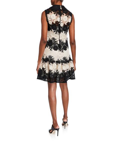 REDValentino Macrame Lace Sleeveless Dress