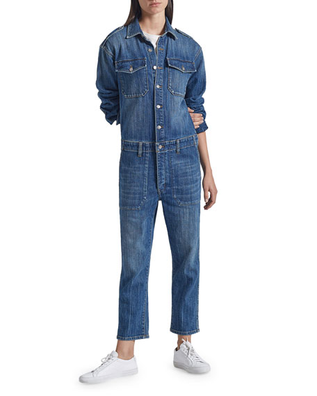 Current/Elliott The Crew Coverall Denim Jumpsuit