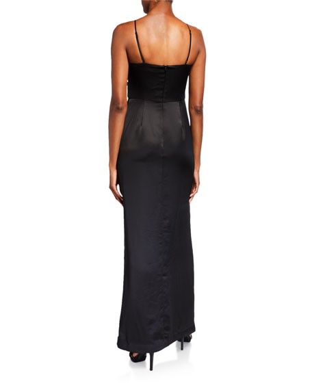 Parker Black Cristy Sequin Satin Combo Gown