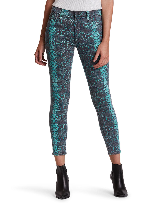 Hudson Barbara High-Rise Skinny Jeans in Teal