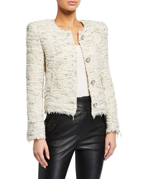 Iro Mercie Strong-Shoulder Tweed Jacket