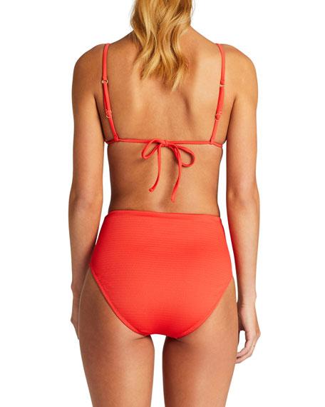 Vitamin A Sol Textured Triangle Bikini Top