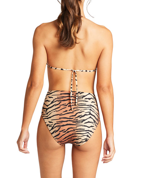 Vitamin A Barcelona Tiger Print Full Bikini Swim Bottoms