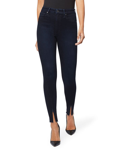 The Danielle High-Rise Skinny Jeans w/ Zippers