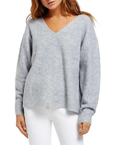 Finn V-Neck Drop-Shoulder Sweater