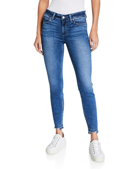 PAIGE Verdugo Ankle Skinny Jeans with Ripped Hem