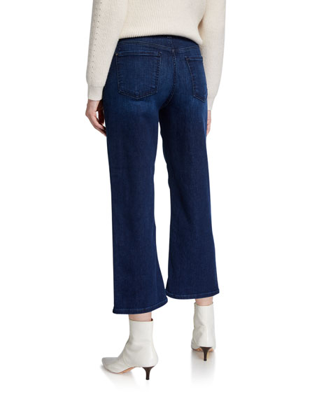 Jen7 by 7 for All Mankind Cropped Wide-Leg Jeans