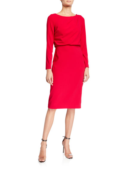 Badgley Mischka Collection Asymmetrical Keyhole Back Sheath Dress