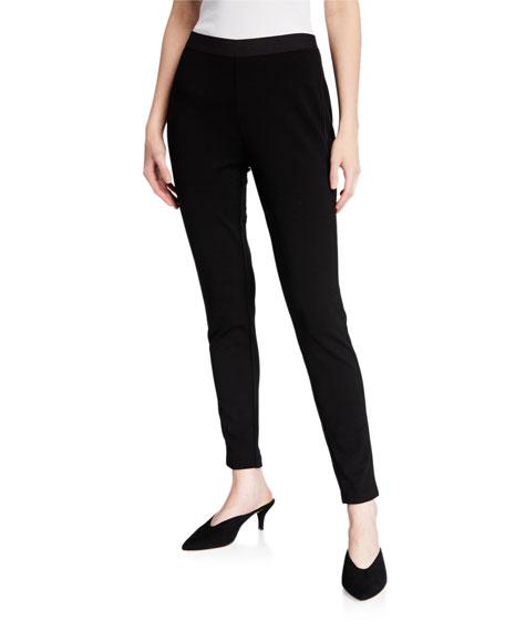 Eileen Fisher Plus Size Tencel Ponte Satin Side-Trim Leggings