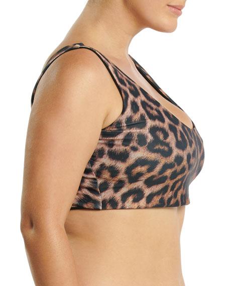 Saint Somebody Plus Size Wild At Heart Scoop-Neck Bikini Top