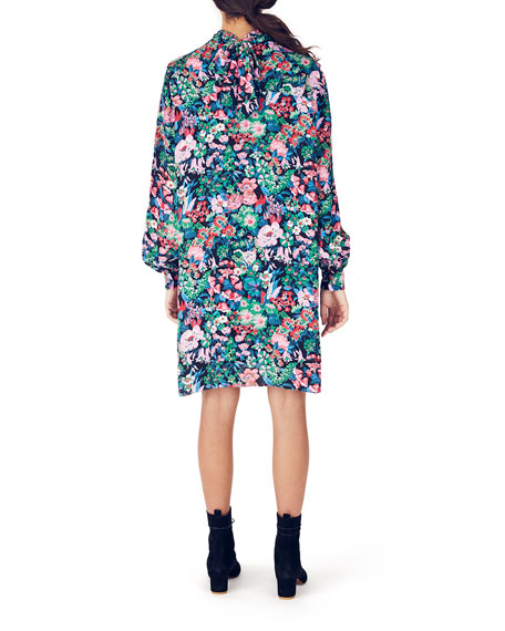 Whit Alice Floral Long-Sleeve Shift Dress