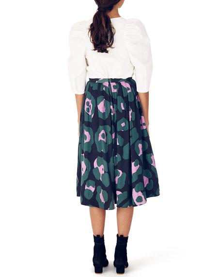 Whit Branch Pleated Midi Skirt